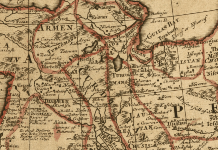 Kurdistan in an antique map