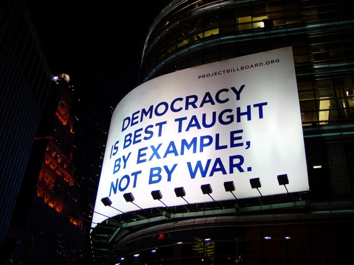 Democracy is best taught by example not by war