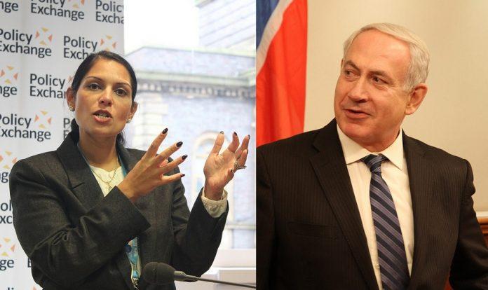 Priti Patel and Benjamin Netanyahu