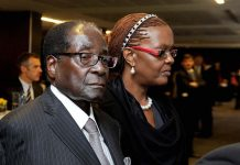 Robert Mugabe in the Memorial service of late Nelson Mandela 2013