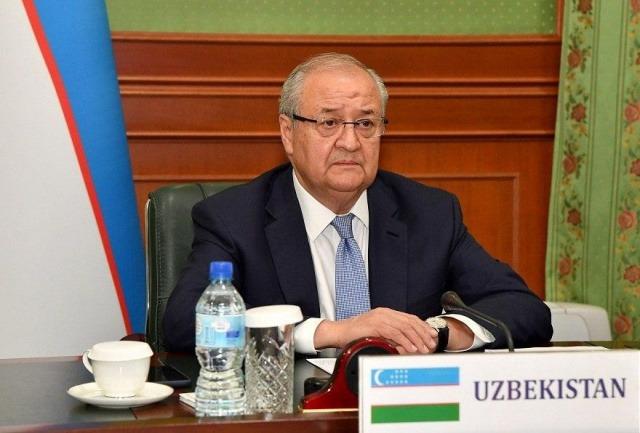 Abdulaziz Kamilov attends a videoconference on international cooperation