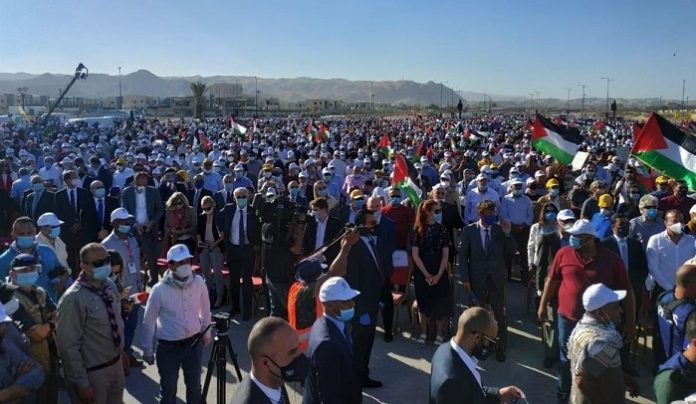At Jericho rally, international community joins Palestinians in rejecting Israeli annexation plan