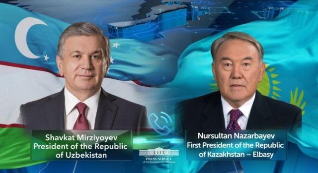 President of Uzbekistan speaks with the First President of Kazakhstan over the phone