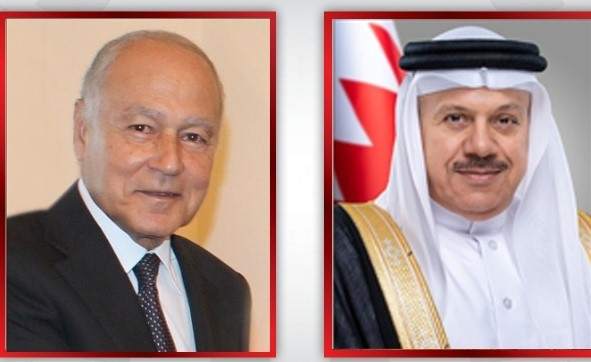 Bahrain FM holds call with Arab League Secretary General discuss ways of boosting cooperation