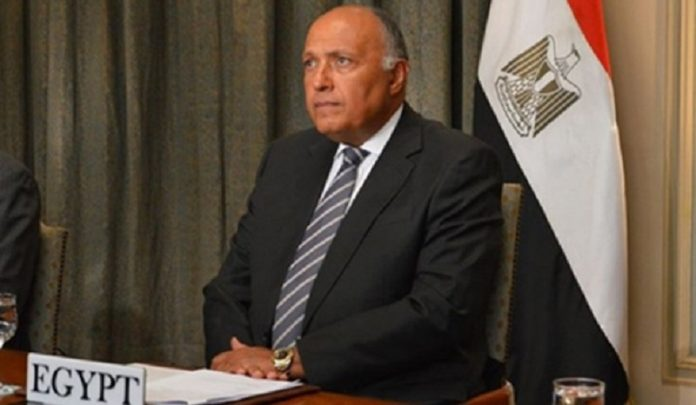 Egyptian foreign minister, British counterpart discuss GERD, Libya and mutual cooperation