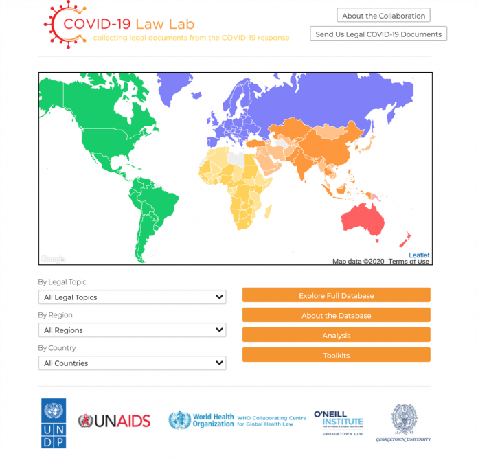 New COVID-19 Law Lab to provide vital legal information and support for the global COVID-19 response