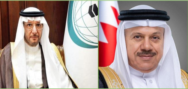 OIC chief discusses with bilateral relations with Bahrain's foreign minister