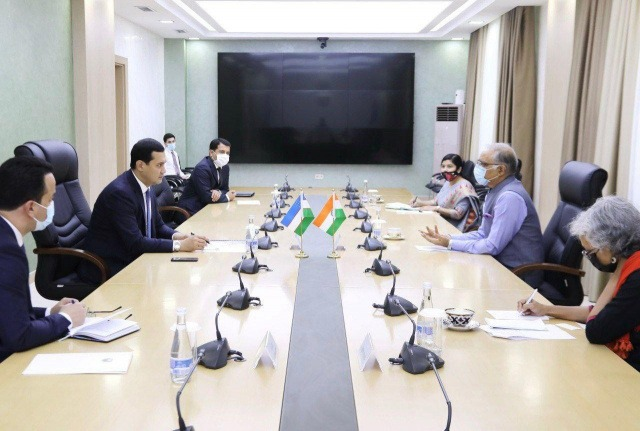 Sardor Umurzakov meets with India's Ambassador