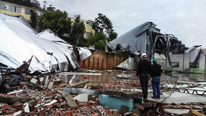 South of Brazil pounded by cyclone