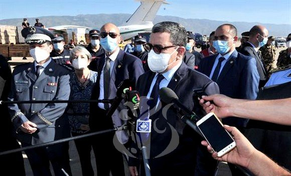 Four Algerian planes and a ship loaded with humanitarian aid leave for Lebanon