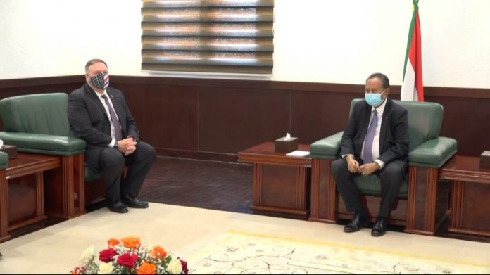 Hamdok, Pompeo discussing removing Sudan from list of terrorism-sponsoring countries
