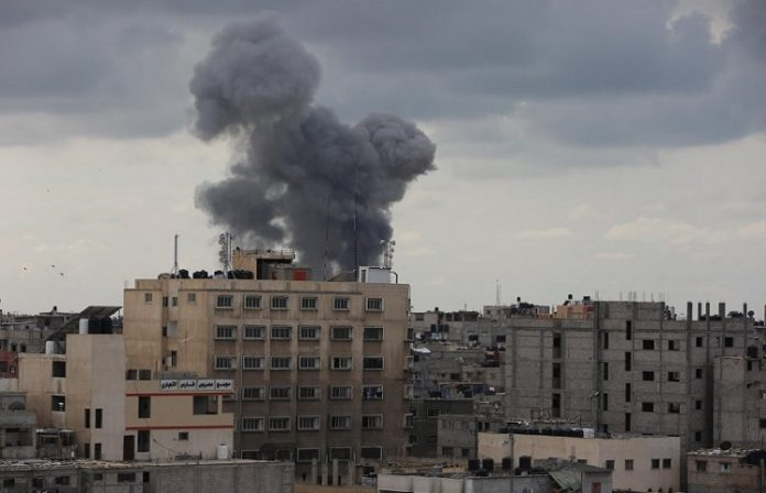 Israeli artillery shells sites in Gaza Strip