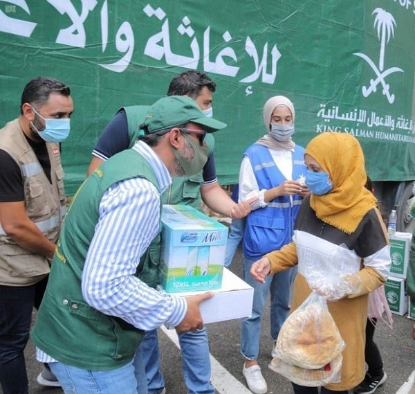 KSRelief continues to provide foodstuffs to Beirut blast-affected families