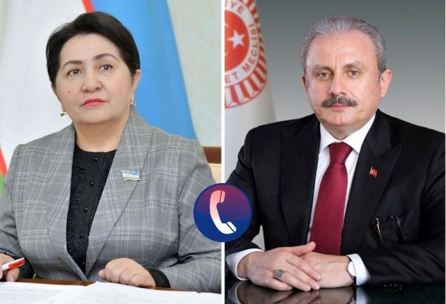 Leaders of Uzbekistan and Turkey parliaments talk over the phone