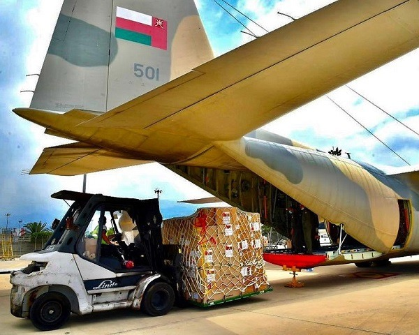 Oman continues to send relief flights to Lebanon following Beirut blast