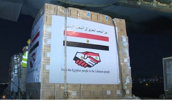 Second plane of Egyptian relief airlift arrives in Beirut