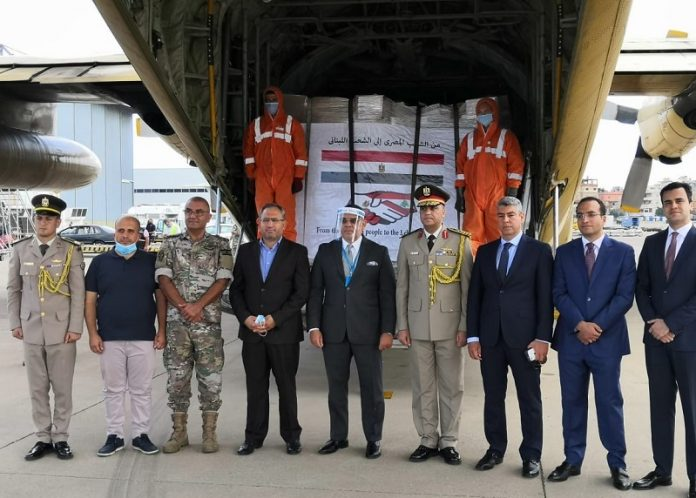 Third relief plane of Egypt's airlift arrives in Lebanon