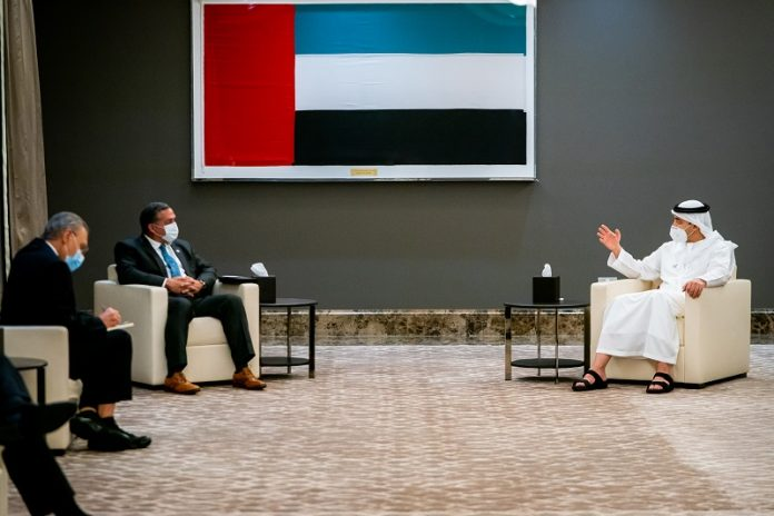 UAE foreign minister receives White House Middle Eastern Affairs official