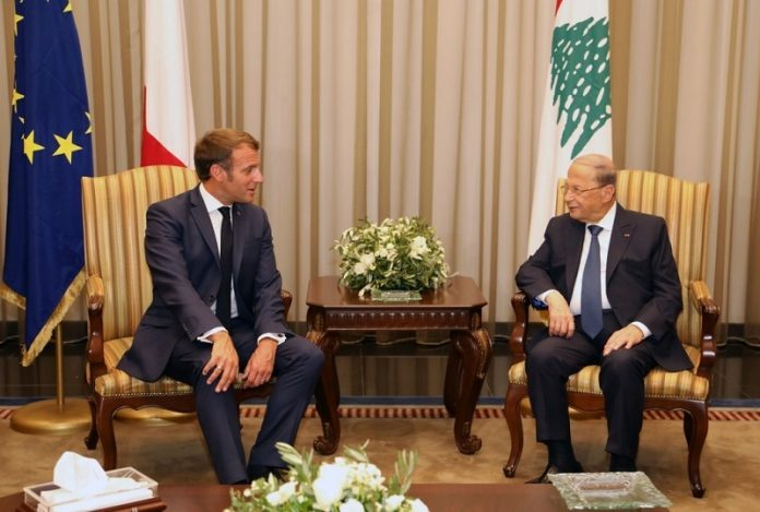 French President arrives in Beirut on his second visit in a month