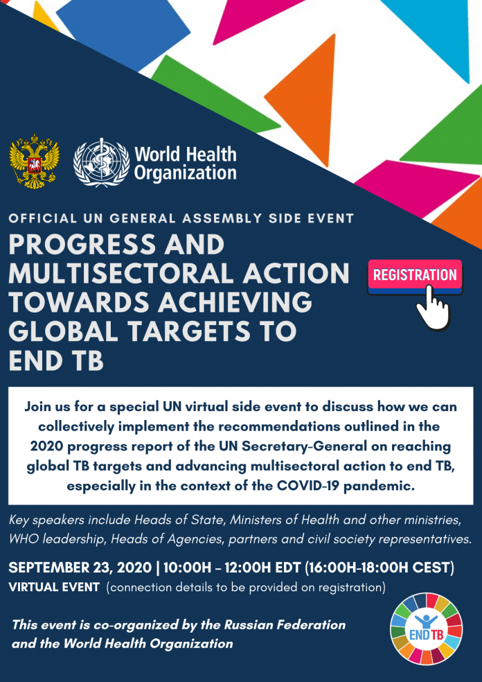 Join Us: Official UN General Assembly Side Event on progress and multisectoral action to End TB