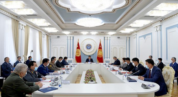 Kyrgyz president holding meeting of country's Security Council