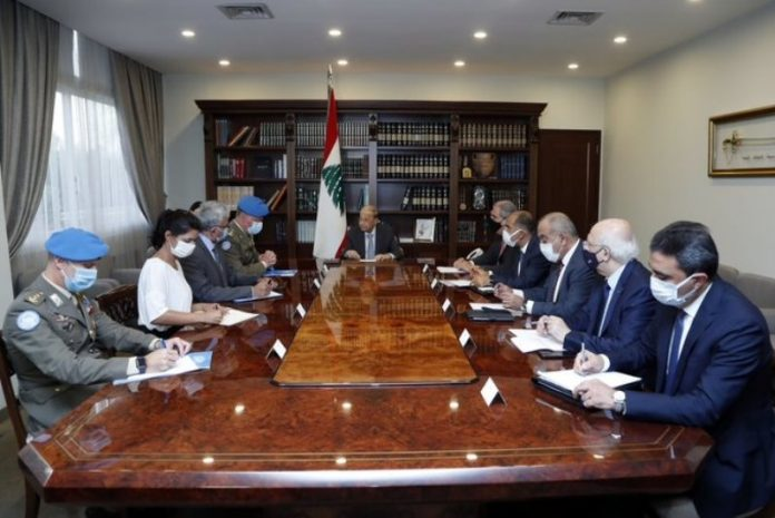 President Aoun discusses situation in southern Lebanon with UNIFIL commander