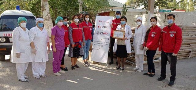 Red Crescent Society of Uzbekistan provides additional assistance to hospitals
