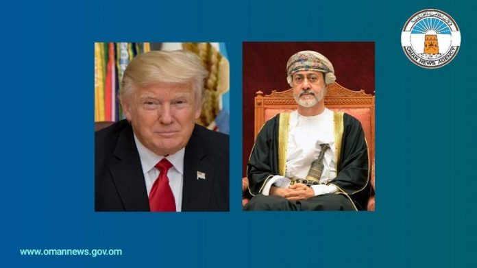 Sultan of Oman receives phone call from US president