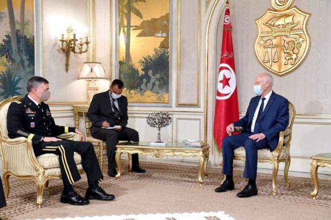 Tunisian President, AFRICOM Commander discuss regional security