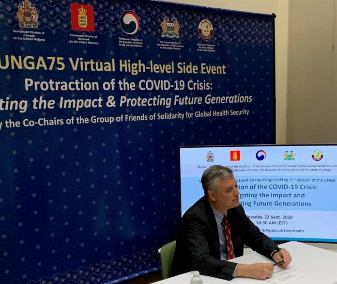 UNGA Virtual high-level side event on mitigating the impact of COVID-19