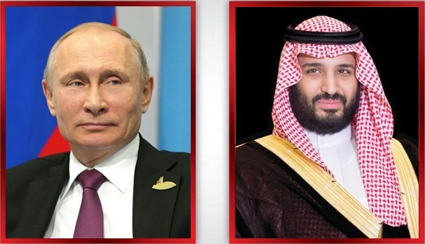 Saudi crown prince, Russian president review global oil market conditions
