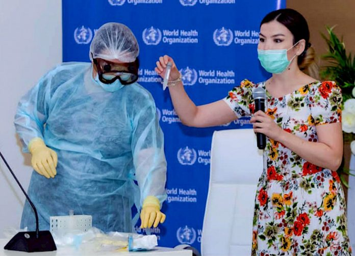 WHO trains over 400 Turkmen specialists to work in the COVID-19 conditions