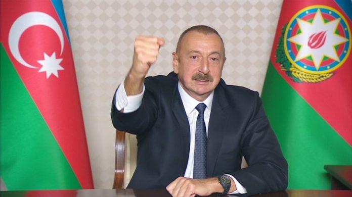 Azerbaijani president officially declares liberation of Shusha city