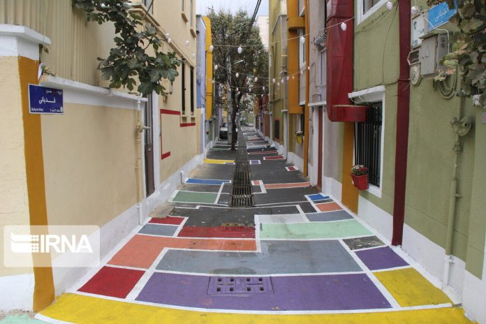 Colorful Alley in Tehran District 9
