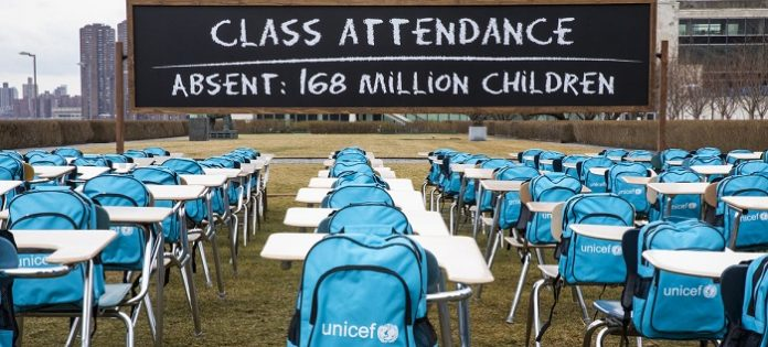 Over 168 million children miss nearly a year of schooling: UNICEF Report