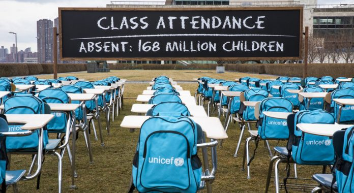 Over 168 million children miss out on nearly a year of schooling, UNICEF says