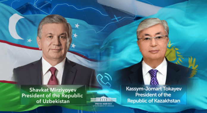Uzbek president, Kazakh counterpart discuss bilateral agenda, regional cooperation issues