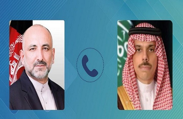 Afghan FM, Saudi counterpart discuss situation in Palestine, Afghan peace process