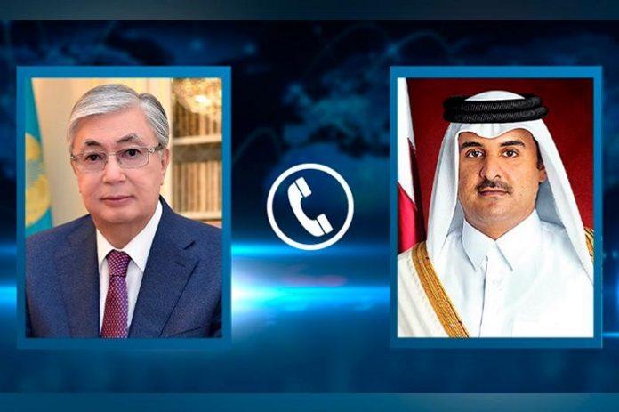 Kazakh President holds phone call with Emir of Qatar