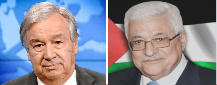 Palestinian President discusses with UN chief efforts to reach immediate ceasefire