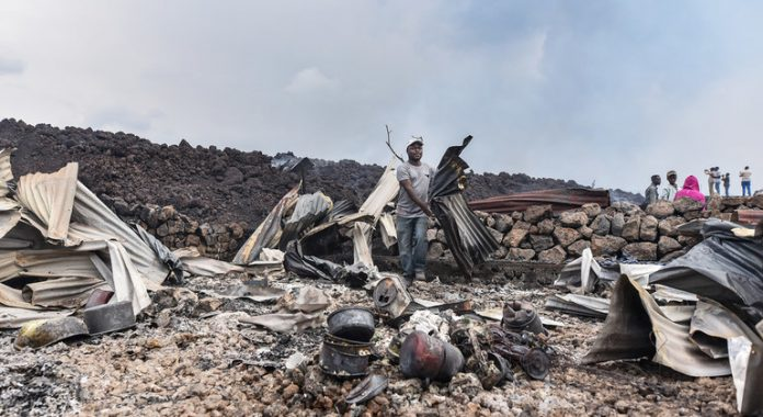 Thousands in Goma evacuated amid fears of further volcanic eruption