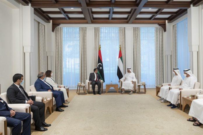 Abu Dhabi Crown Prince, Head of Libyan Presidential Council discuss political process in Libya