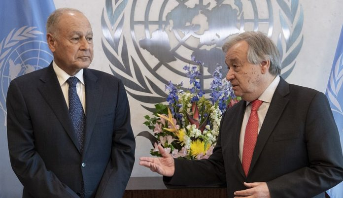 Arab League chief looking to continue consultation and coordination with UN