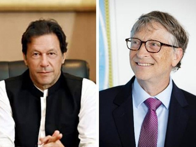 Imran Khan discusses with Bill Gates efforts to make Pakistan polio-free
