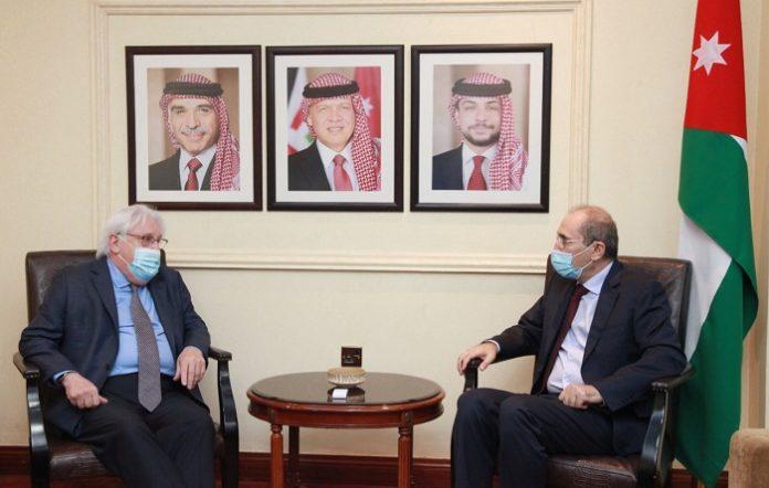 Jordan's FM, UN Special Envoy discuss efforts to resolve Yemen crisis