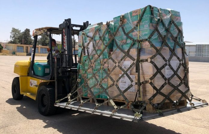 Kuwait military aircraft arrives in Jordan carrying aid for Palestinian people