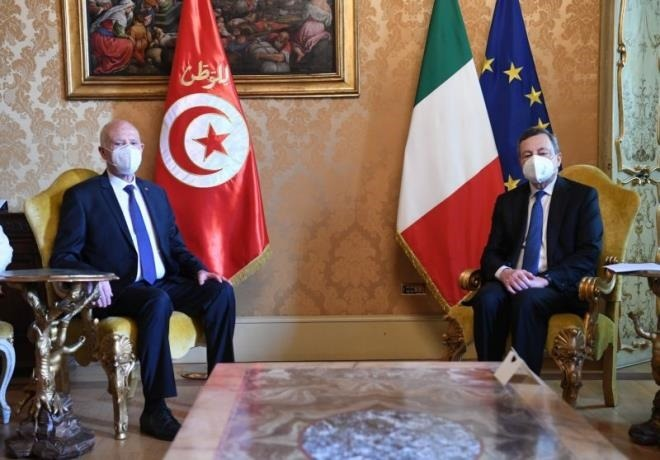 Tunisian President discusses with Italy's PM ways to enhance bilateral cooperation