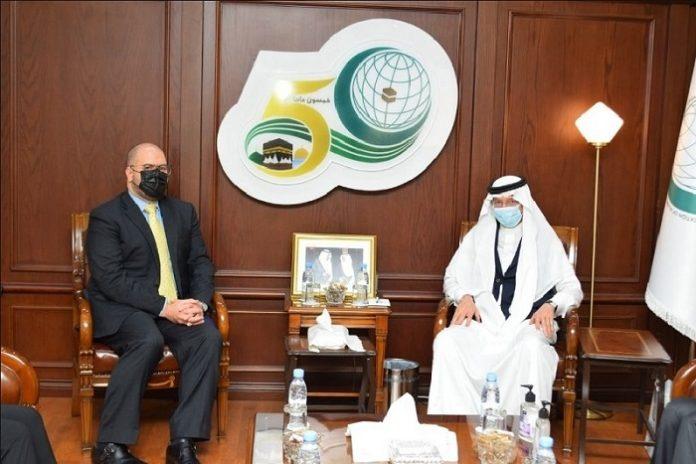 Al-Othaimeen bids farewell to US envoy to OIC
