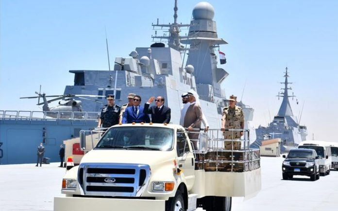 Egypt's President attends inauguration of July 3rd Naval Base on northwestern coast