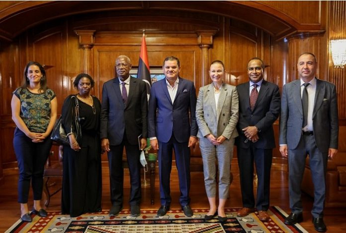 Prime Minister Dbeibeh receives delegation from UN Libya Mission